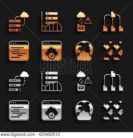 Set Cloud Technology Data Transfer, Folder Tree, Data Stream, Social Network, Software, Network Clou