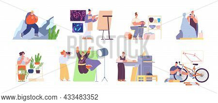 People And Hobby. Artist Imagination, Hobbies Artistic And Creative. Person Art Occupation, Photogra