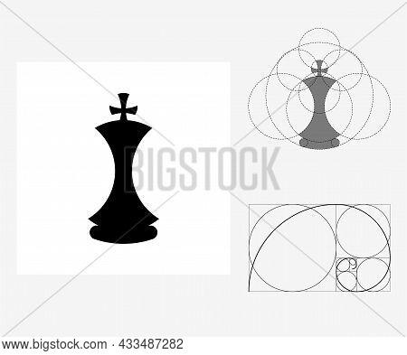 Vector Chess In Golden Ratio Style. Editable Illustration