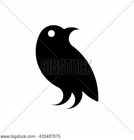 Vector Crow In Golden Ratio Style. Editable Illustration