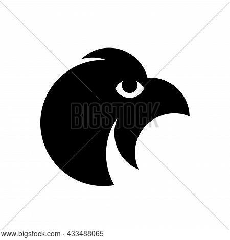 Vector Eagle In Golden Ratio Style. Editable Illustration