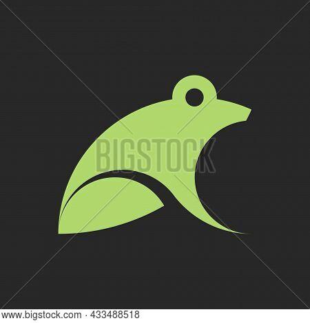 Vector Frog In Golden Ratio Style. Editable Illustration