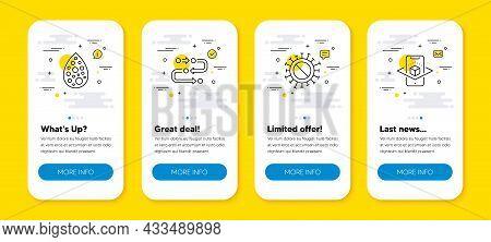 Vector Set Of Artificial Colors, Methodology And Coronavirus Line Icons Set. Ui Phone App Screens Wi