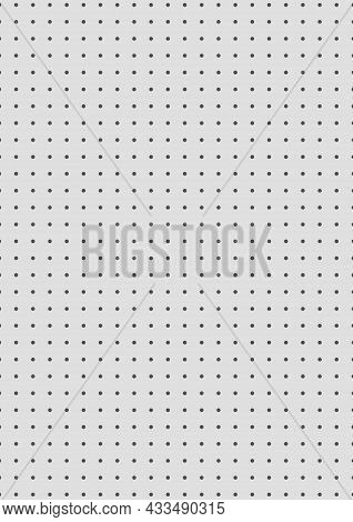 Grid Paper. Dotted Grid On Grey Background. Abstract Dotted Transparent Illustration With Dots. Whit