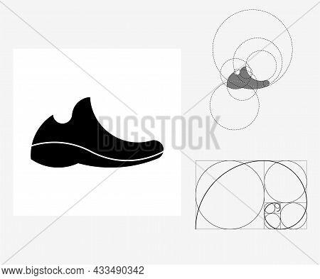 Vector In Sneaker Ratio Style. Editable Illustration
