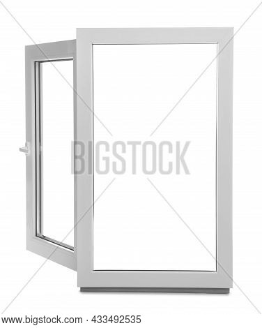 New Modern Single Casement Window Isolated On White