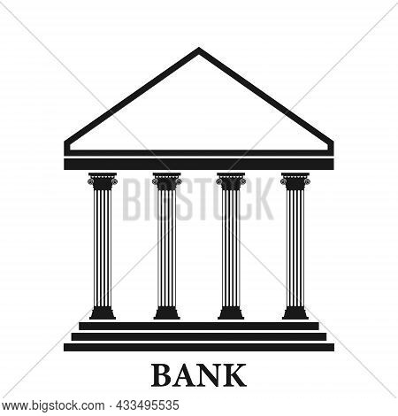 Bank Icon, Bank Icon For The Site On A White Background. Vector, Cartoon Illustration. Vector.