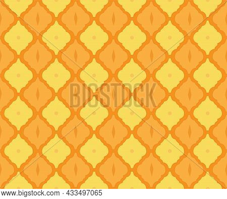 Arabesque Tile Pattern As Arabic Style Ethnic Background For Islamic Or Moroccan Mosaic Seamless Fab