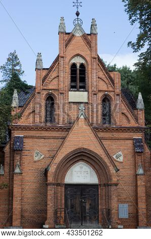 The Church Of The Visitation Of The Mary In Breclav Postorna Is Built In The Neo-gothic Style