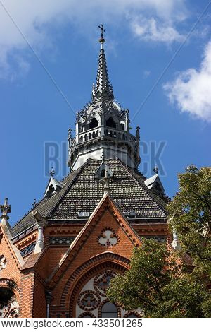 Detail Of The Tower Of The Church Of The Visitation Of The Mary In Breclav-postorná Is Built In The