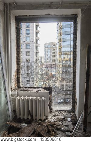 Home Renovation - Old Flat During Renovation. Russia.