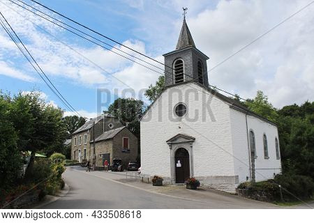 Engreux, Belgium, 5 August 2021: View Of The Picturesque Villlage Of Engreux Near Houffalize In The