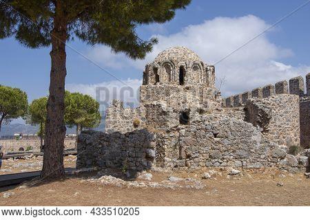 Byzantine Church In A Fortress Alanya Kalesi In The City Of Alanya, Turkey