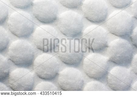 Cosmetic Cotton Pad Close Up Background Texture.
