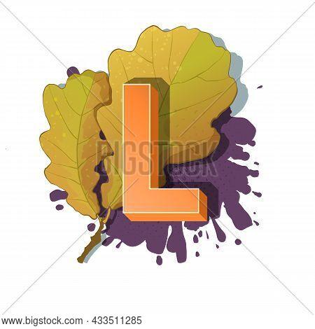 Autumn 3D Pop Art Alphabet - Colorful Bold Letter L