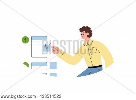 Judging Kind Of Mindset Person Character, Flat Vector Illustration Isolated.