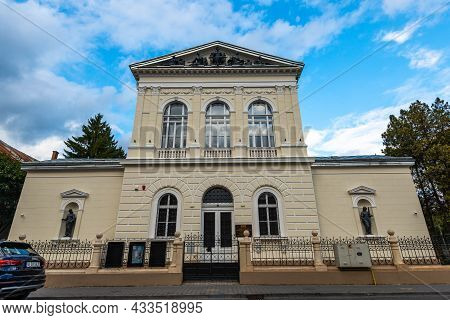 Targu Mures , Romania- 18 September 2021: Front View Of The Museum Of Sciences.