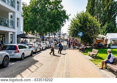 Międzyzdroje, Poland -05.09.2021 - Main Streets In Miedzyzdroje