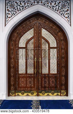 White Mosque In Shali Interiors, Chechnya, Russia