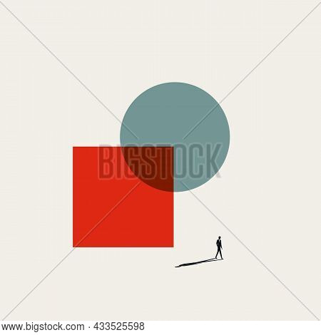 Business Merger And Acquisition Vector Concept. Symbol Of Accomplishment, Success, Growth. Minimal I