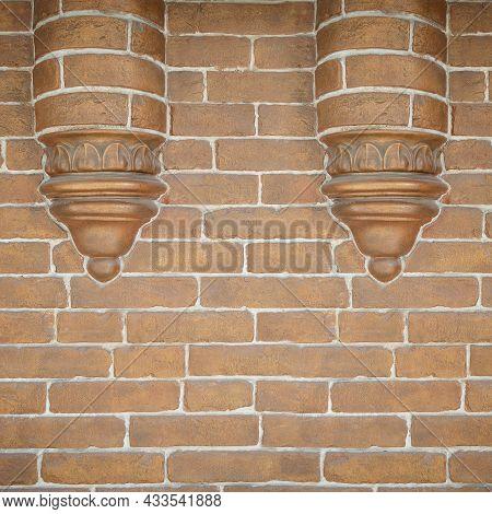 Brick Wall. Brick Wall Texture. Brick Wall Background. Bricks Wall Pattern. Texture Brick Wall Of Be