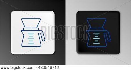 Line Pour Over Coffee Maker Icon Isolated On Grey Background. Alternative Methods Of Brewing Coffee.
