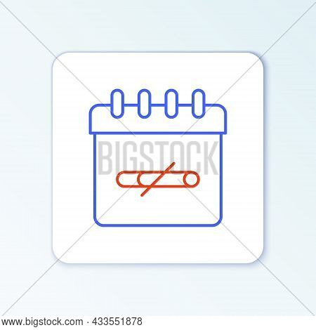 Line No Smoking Days Icon Isolated On White Background. Concept Of No Smoking And World No Tobacco D