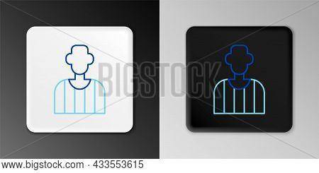 Line Football Or Soccer Referee Icon Isolated On Grey Background. Colorful Outline Concept. Vector