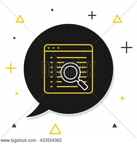 Line Search Engine Icon Isolated On White Background. Colorful Outline Concept. Vector