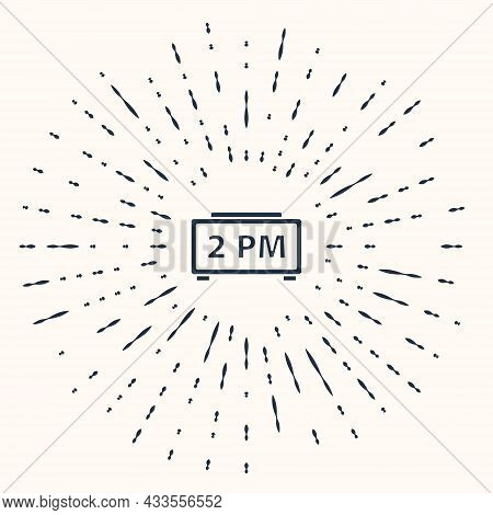 Grey Digital Alarm Clock Icon Isolated On Beige Background. Electronic Watch Alarm Clock. Time Icon.