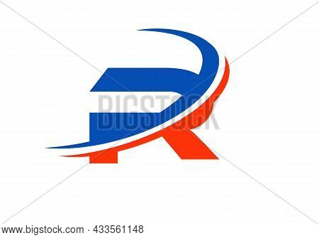R Letter Business Logo Template. Initial R Logo Design For Real Estate, Financial, Marketing, Manage