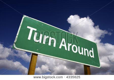 Turn Around Road Sign
