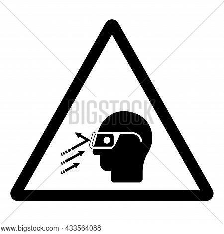 Flying Debris Wear Safety Glasses Symbol Sign, Vector Illustration, Isolate On White Background Labe