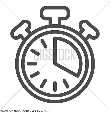 Stopwatch With Buttons, 20 Seconds, Timer, Chronometer Line Icon, Time Concept, Clock Vector Sign On