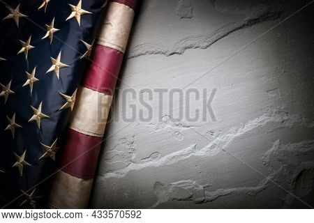 United States flag vintage background for Memorial Day, Veterans Day or 4th of July Independence Day