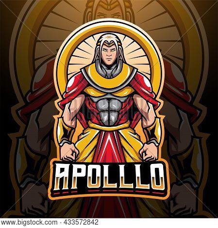 Apollo Esport Mascot Logo Design With Text