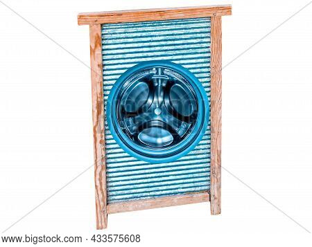 Ribbed Board For Hand Washing Home Clothes. Washing Machine. Washing Machine Tank. Handwash. Repair