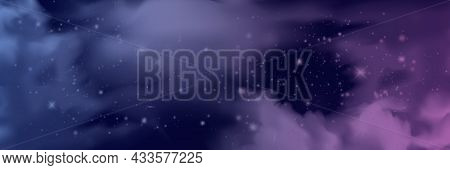 Space Background With Realistic Nebula And Shining Stars. Colorful Cosmos With Stardust And Milky Wa