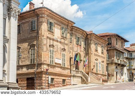 Bra, Italy - June 27,2021 - View At The Building Of Town Hall In Bra. Bra Is A Town And Comune In Th