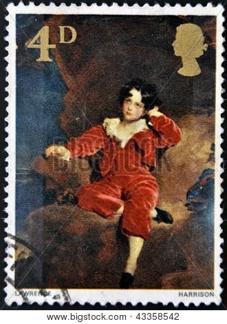 stamp printed in Great Britain shows the young Lambton by Sir Thomas Lawrence