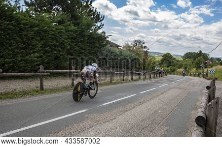 Bourgoin-jallieu, France - 07, May, 2017: The French Cyclist Samuel Dumoulin Of Team Ag2r La Mondial