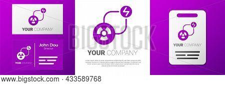 Logotype Radioactive Exchange Energy Icon Isolated On White Background. Radioactive Toxic Symbol. Ra