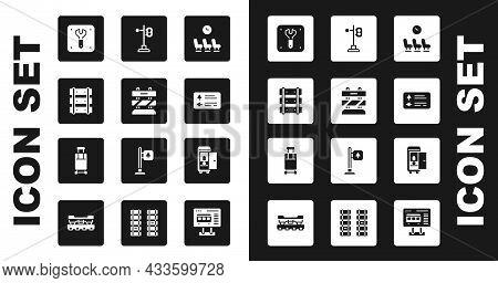 Set Waiting Room, End Of Railway Tracks, Railway, Railroad, Repair, Road Traffic Signpost, Train Lig