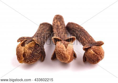 Cloves Group Isolated On A White Background