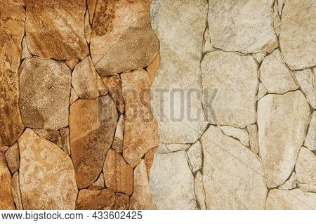 Part Of A Stone Wall, For Background Or Texture.