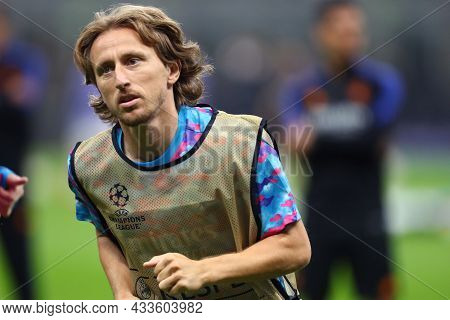 Milano, Italy. 15 September 2021. Luka Modric Of Real Madrid Cf  During The  Uefa Champions League G