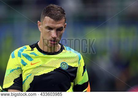 Milano, Italy. 15 September 2021. Edin Dzeko Of Fc Internazionale  During The  Uefa Champions League