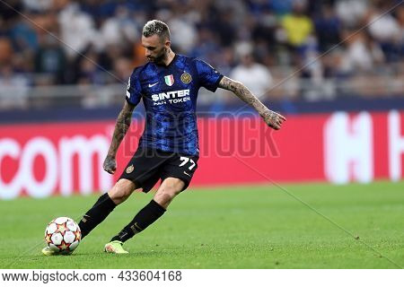 Milano, Italy. 15 September 2021. Marcelo Brozovic Of Fc Internazionale  In Action During The  Uefa