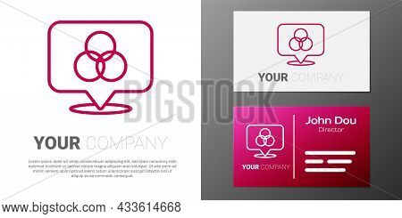 Logotype Line Rgb And Cmyk Color Mixing Icon Isolated On White Background. Logo Design Template Elem