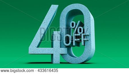 Up To 40% Off Special Offer, Sale Up To 40 Percent Off, 3d Render